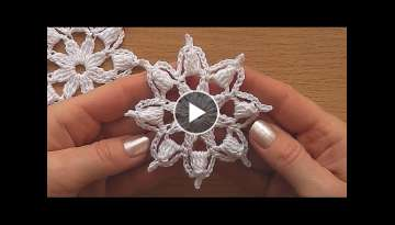 Crochet motif tutorial VERY EASY Crochet motifs for beginners