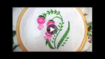 Hand Embroidery:Padded satin stitch and knotted Caston stitch