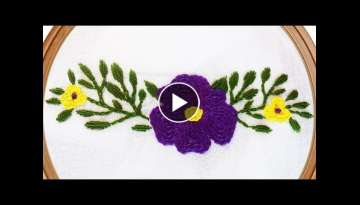 Hand Embroidery Flower | Chain Stitch | Hand Embroidery Design