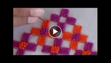 Hand Embroidery: Border stitch
