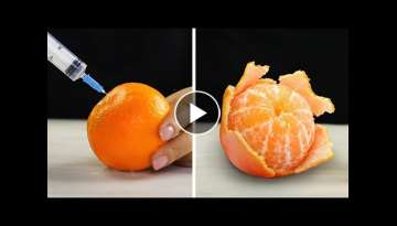 24 CLEVER HACKS TO PEEL AND CUT FRUITS AND VEGETABLES