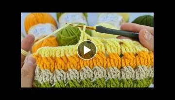 Super Easy Crochet pattern stitch | manta para bebe | How to crochet