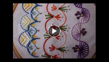Hand Embroidery Designs | Basic embroidery stitches # Part 8 | Stitch and Flower-98