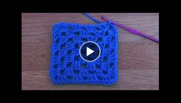 Basic Granny Square - Crochet Tutorial for Beginners