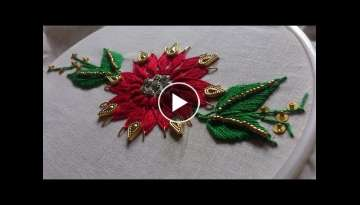 Hand embroidery designs- Fantasy flower stitch-leisha's galaxy