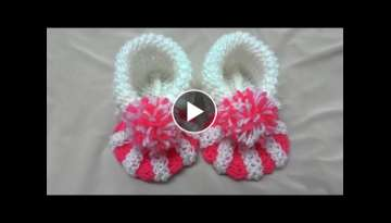 How to knit baby booties tutorial